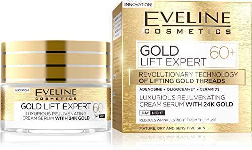 Eveline Gold Lift Expert 60+ Luxus Fiatalító N/É krém-szérum 24k arannyal 50 ml