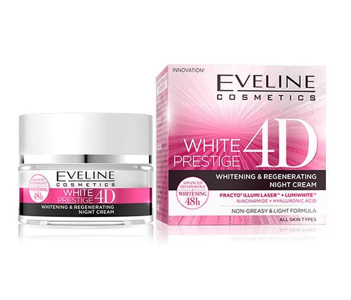 Eveline White Prestige 4D Fehérítő Nappali krém 50 ml