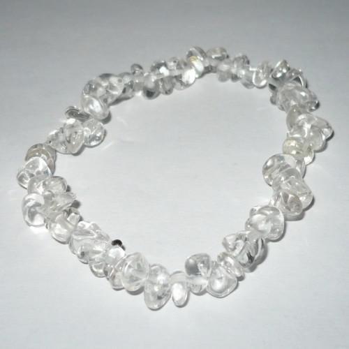 Hegyikristály ásványékszer szemcse karkötő