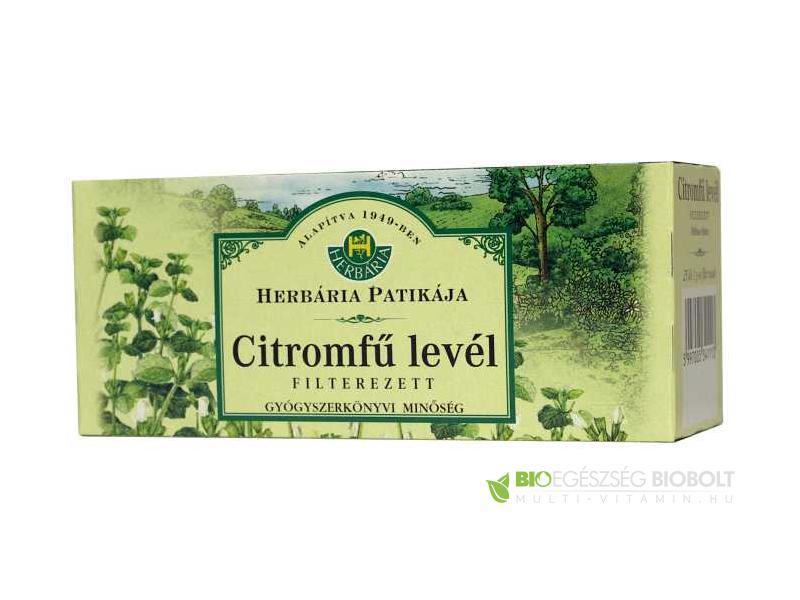 Herbária Citromfű levél filteres tea 25x1g
