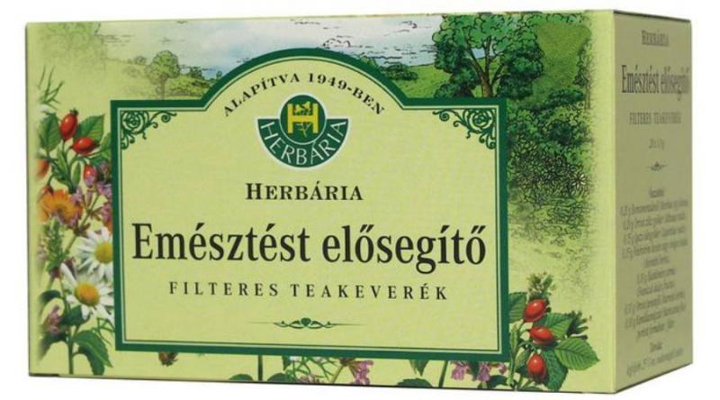 Herbária Emésztést elősegítő filteres teakeverék 20x1g