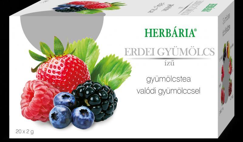 Herbária Gyümölcstea Erdei gyümölcs ízű 20x2g