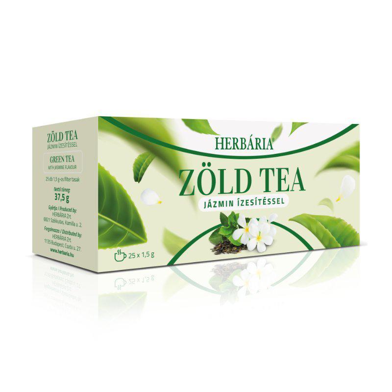 Herbária Zöld tea jázmin ízesítéssel 25x1g