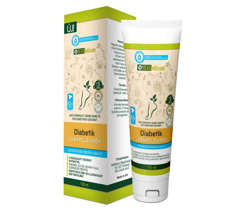 HERBioticum Diabetik lábápoló krém - 100 ml