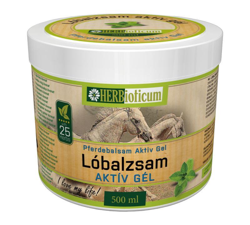 HERBioticum lóbalzsam aktív gél hűsítő 25 növényi kivonat 500 ml
