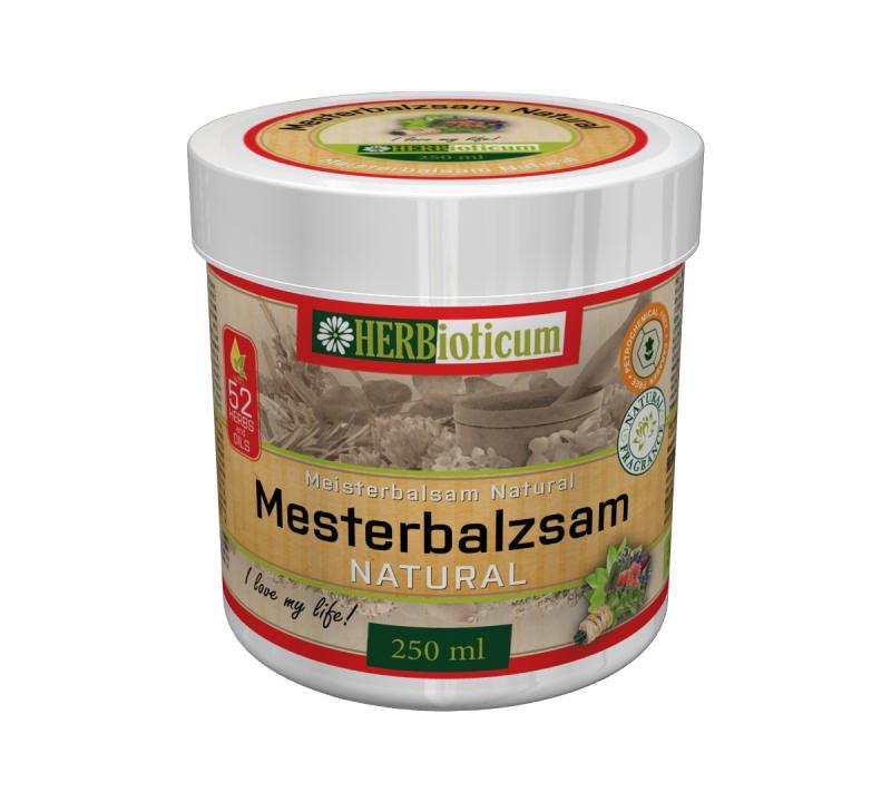 HERBioticum Mesterbalzsam NATURAL gyógynövényekkel - 250 ml