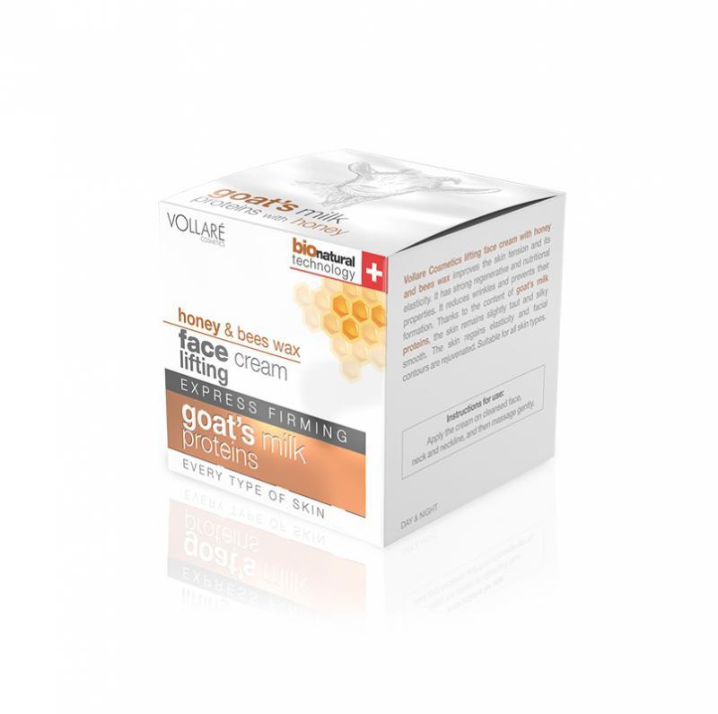 Intenzív lifting arckrém méhviasszal és kecsketejjel 50ml- vollare