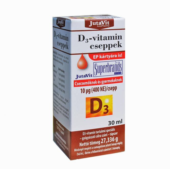 Jutavit D3-vitamin cseppek 400NE 10mg 30ml