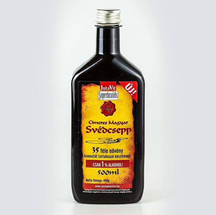 Jutavit svédcsepp 35 gyógyfüves 1% alkohol 500ml