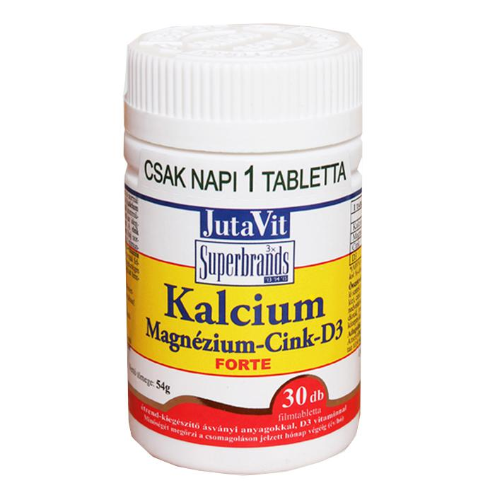 JutaVit Tabletta Kálcium Magnézium Cink D3 forte 30 szem