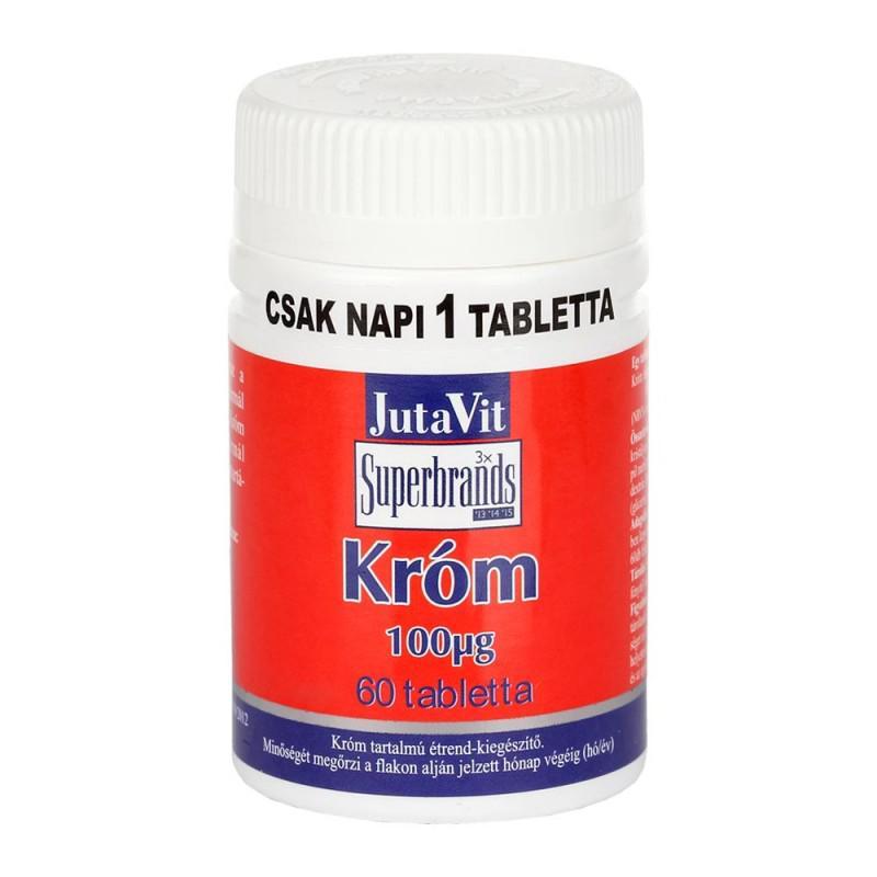 JutaVit Tabletta Króm 100mcg 60szem