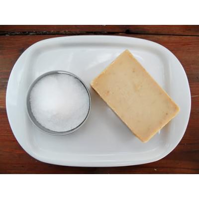 Kézműves háziszappan natúr+parajdi só - 80 g