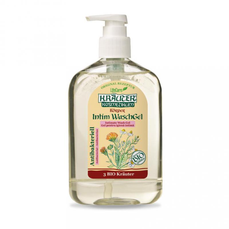 Kräuter® antibakteriális intim gél, BIO gyógynövényekkel - 500 ml