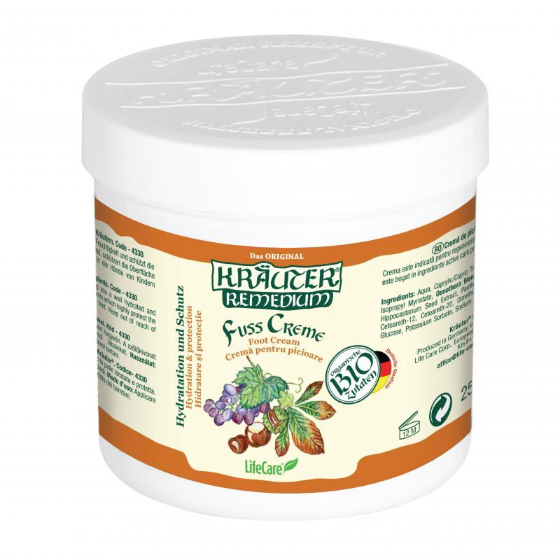 Kräuter® lábkrém szőlővel és BIO gyógynövényekkel a tökéletes vérkeringésért - 250 ml