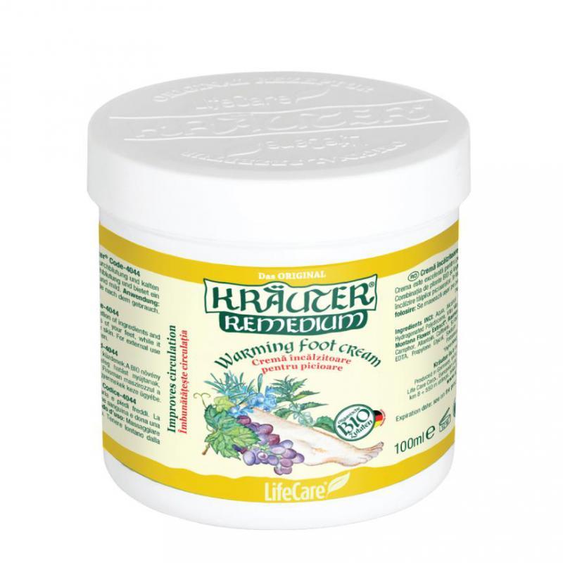 Kräuter® lábmelegítő krém, BIO gyógynövényekkel - 100 ml