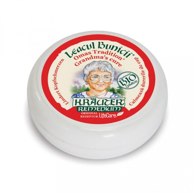 """Kräuter® """"Nagymama csodaszere"""" fejfájás elleni balzsam, BIO gyógynövényekkel - 15 ml"""