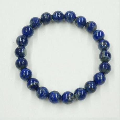Lapis lazuli ásványékszer golyós karkötő - 8 mm