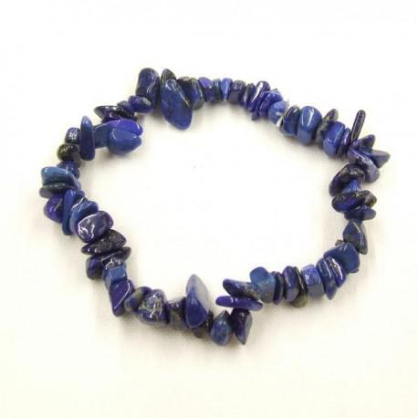 Lapis lazuli ásványékszer szemcse karkötő