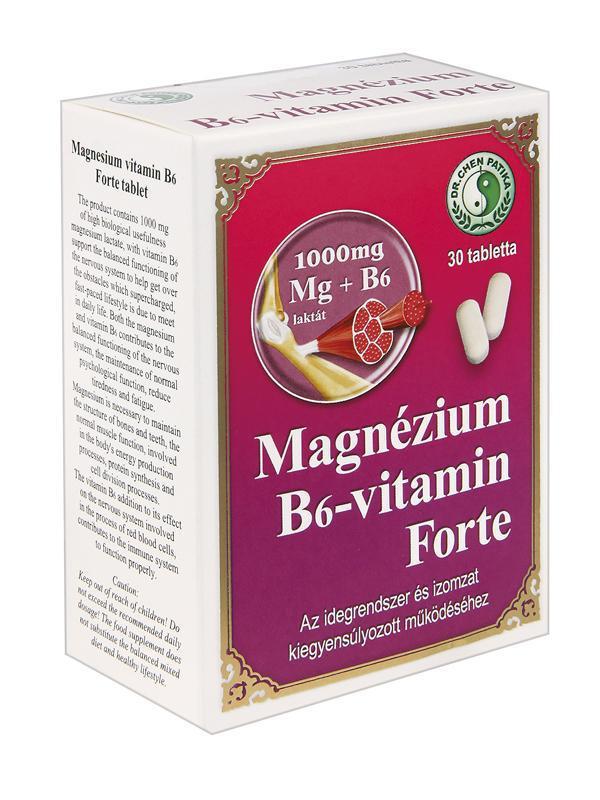Magnézium B6-vitamin Forte tabletta - 30db