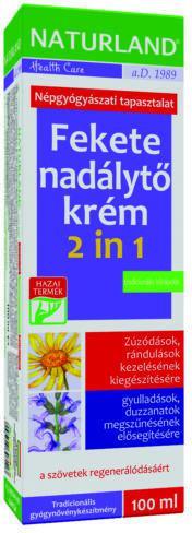 NATURLAND Fekete nadálytő krém 2 in 1- 100 ml