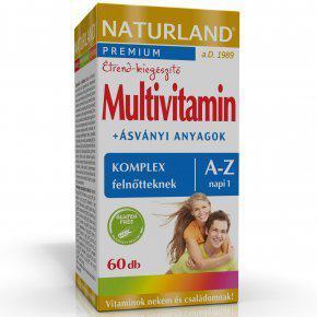 NATURLAND Multivitamin komplex felnőtteknek A-Z-ig tabletta 60 szem