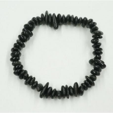 Obszidián ásványékszer gömbölyítettszemü karkötő