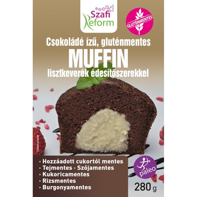 Szafi Reform Étcsokoládé ízű muffin lisztkeverék 280 g