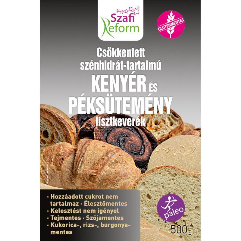 Szafi Reform szénhidrát csökkentett kenyér és péksütemény lisztkeverék 500 g