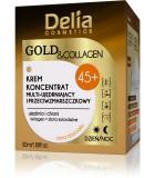 DELIA GOLD & COLLAGEN Ránctalanító,feszesítő krém 45+ 50ml