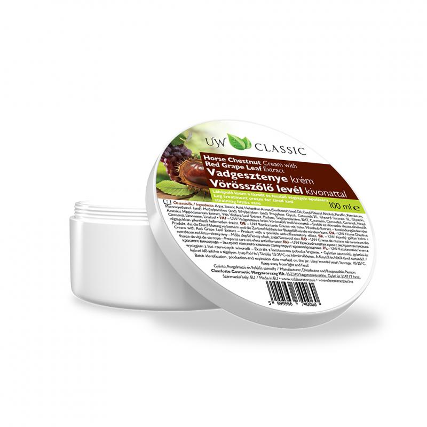 UW Classic Vadgesztenye krém vörössszőlő kivonattal - 100 ml