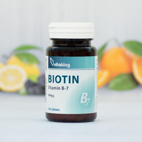 Vitaking Biotin B7 vitamin 100 szem