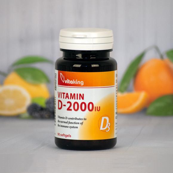Vitaking  D3 vitamin 2000NE 90 szem