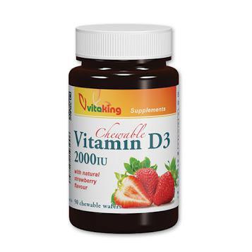 Vitaking D3-vitamin Epres  (90 rágótabletta)