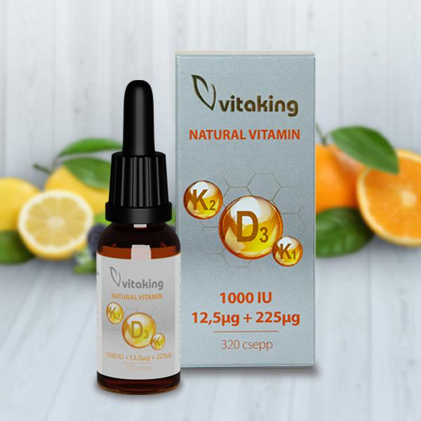 Vitaking D3+K2+K1 VITAMIN CSEPP 10ML (160 ADAG)