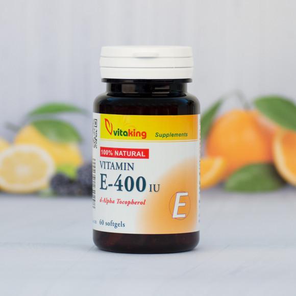 Vitaking E-vitamin 400NE természetes 60 szem
