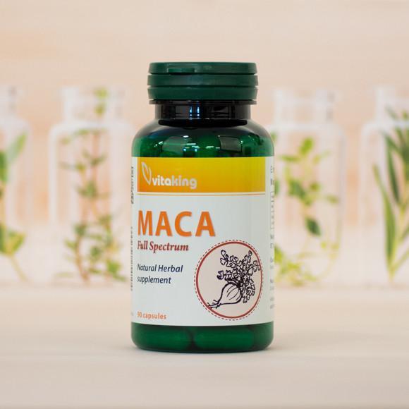 Vitaking Maca gyökér por 500 mg 90 kaps