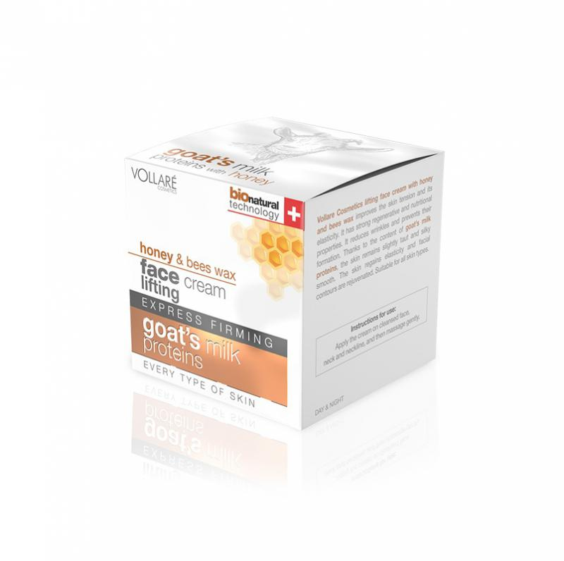 VOLLARE Intenzív lifting arckrém méhviasszal és kecsketejjel 50 ml