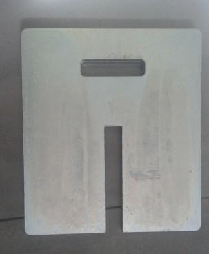 Négyszög Talpsúly (30x30x1,5cm)  Horganyzott (10kg) (Lábanként 1db ajánlott)