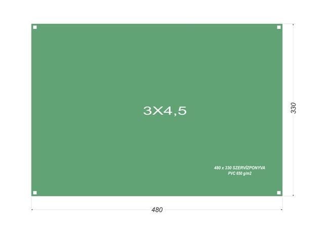 Szervíz ponyva 3x4,5