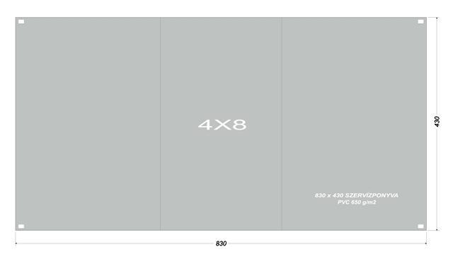 Szervíz ponyva 4x8 m