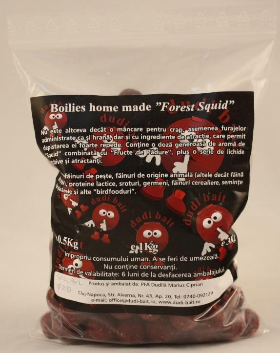 Dudi Forest Squid bojli 1kg  20mm (főzött) (Tari)