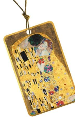 Ajándékkísérő kártya Klimt Csók
