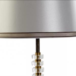 Lámpa Luxury üveg-fém