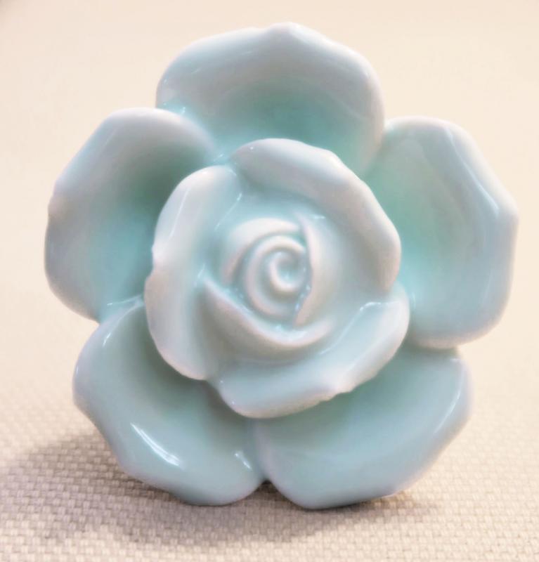 Fiókgomb kerámia rózsa v.zöld 4,5cm