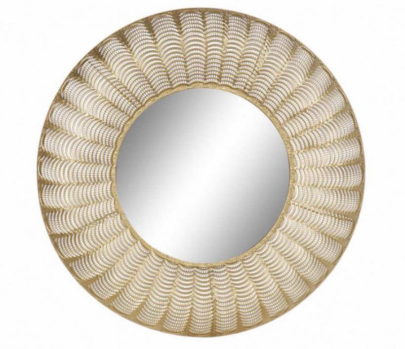 Tükör fém arany Ø75cm