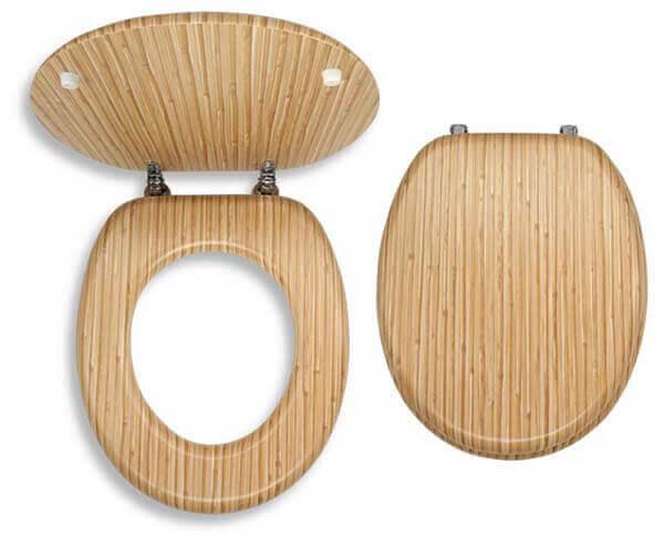 Bambus WC-ÜLŐKE Krómozott réz rögzítőellemekkel