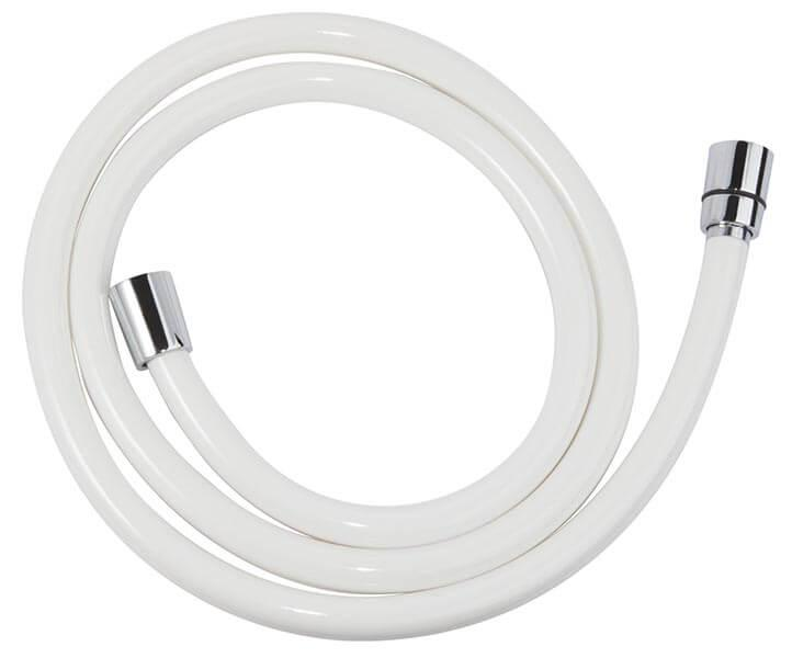 Csavarodásmentes fehér pvc  zuhanygégecső 150 cm W42