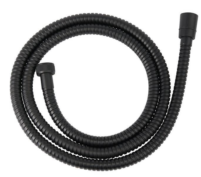 Csavarodásmentes fekete acél zuhanygégecső 150 cm W33