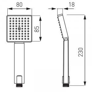 Amigo víztakarékos verdeline 1 funkciós zuhanyfej