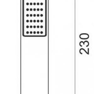 Zuhanyfej Moderno 1 funkicós S115